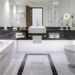 A luxurious bathroom built offsite