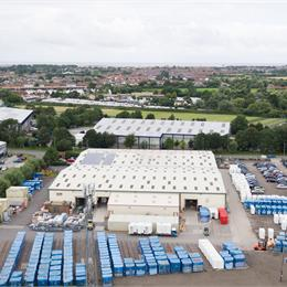 Aerial view of bathroom pod factory | Offsite Solutions